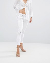 One Teaspoon Freebirds Lo Waist Straight Leg Jean Luxe White