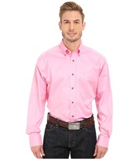 Ariat Solid Twill Shirt Prism Pink Men's Long Sleeve Button Up