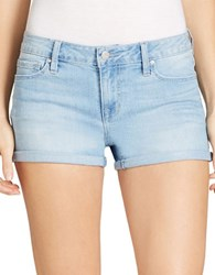Jessica Simpson Cotton Blend Faded Shorts Blue