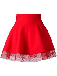 Piccione.Piccione Piccione. Piccione Full Mini Skirt Red