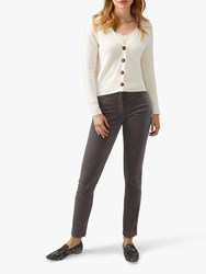 Pure Collection Washed Velvet Jeans Pewter