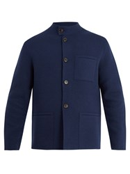 Berluti Forestiere Wool And Cashmere Blend Jacket Navy