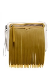 Hunter Original Rubber Fringe Leather Pouch Gray