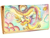 Anuschka 1095 Imperial Dragon Checkbook Wallet Multi