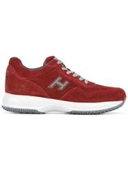 Hogan 'Interactive New H Vintage' Sneakers Red