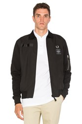 Fred Perry X Art Comes First Contrast Sleeve Harrington Jacket Black