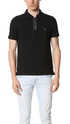 The Kooples Sport Zip Polo Black