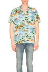 Levi's Premium Hawaiian Shirt Blue