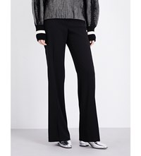 Sportmax Ove Wide High Rise Crepe Trousers Black
