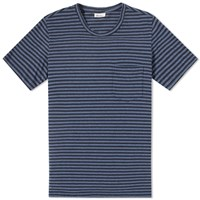 Schiesser Fred Stripe Pocket Tee Blue