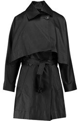 Vivienne Westwood Windsor Convertible Coated Stretch Twill Trench Coat Black