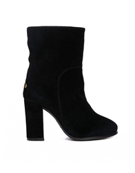 Love From Australia Mid Calf Short Classic Heeled Boot Black