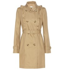 Red Valentino Cotton Blend Trench Coat Brown