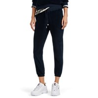 Nsf Sayde Cotton Blend Velour Sweatpants Navy