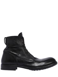 Moma Lace Up Leather Combat Boots