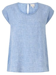 East Linen Dye Shell Top Blue