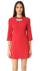 Alice Olivia Gem 3 4 Sleeve Shift Dress Red