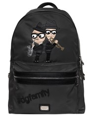 Dolce And Gabbana Designers Patches Nylon Backpack