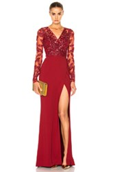 Zuhair Murad Cady Stretch Straight Dress In Red