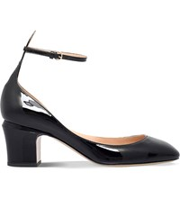 Valentino Tan Go 60 Patent Leather Heeled Pumps Black