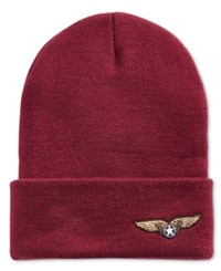 In Awe Of You By Awesomenesstv Awesomeness Tv Glitter Patch Beanie Burgundy