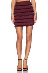 Sister Jane Sugar Plum Fringe Skirt Wine