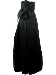 Dsquared2 Bow Detail Evening Gown Black