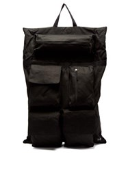 Raf Simons X Eastpak Photographic Print Satin And Canvas Backpack Black