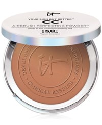 It Cosmetics Your Skin But Better Cc Airbrush Perfecting Powder Spf 50 Deep