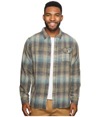 Vissla Sabroso Long Sleeve Flannel Top Teal Clothing Blue