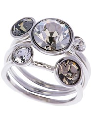 Ted Baker Jackie Jewel Clustered Ring Silver