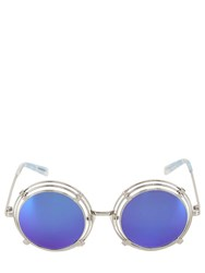 House Of Holland Spring Metal Rounded Sunglasses Silver
