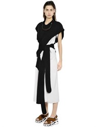 Marni Asymmetrical Two Tone Silk Tussah Dress