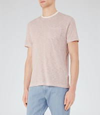 Reiss Braga Mens Stripe Pocket T Shirt In Red