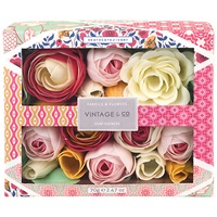 Heathcote And Ivory Vintage Fabric And Flowers Soap Flowers