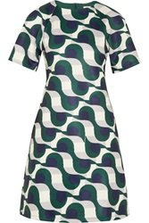 Etre Cecile Disco Printed Satin Jersey Dress Green