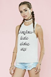 Forever 21 Bonjour Sup Graphic Muscle Tee