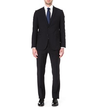 Armani Collezioni Virgin Wool Single Breasted Suit Navy