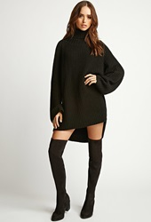 Forever 21 Rise Of Dawn Turtleneck Sweater Black
