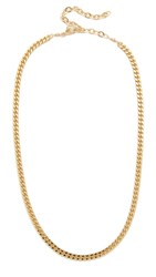 Jacquie Aiche Ja Flat Chain Necklace Gold