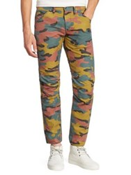 G Star Straight Fit Camo Printed Jeans Jigsaw Cam