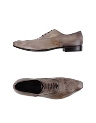 Gianni Barbato Footwear Lace Up Shoes Men Grey