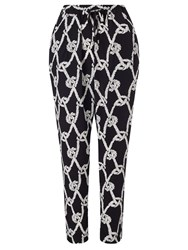Alice By Temperley Somerset By Alice Temperley Rope Print Trousers Black White