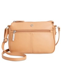 Giani Bernini Nappa Leather Crossbody Only At Macy's Nut