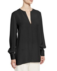 Joseph Long Sleeve Crepe Tunic Midnight Black