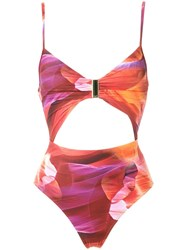Lygia And Nanny Cut Out Details Swimsuit Yellow Orange