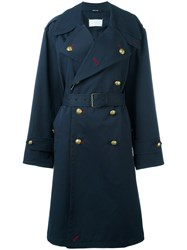 Maison Martin Margiela Trench Coat Blue