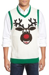 Men's Ugly Christmas Sweater 'Reindeer' V Neck Sweater Vest