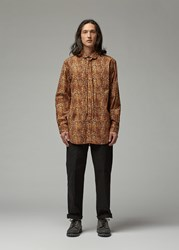 Engineered Garments Rounded Collar Shirt Brown