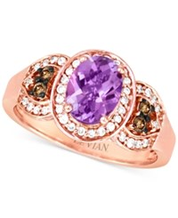 Le Vian Chocolatier Pink Amethyst 1 Ct. T.W. And Diamond 1 4 Ct. T.W. Ring In 14K Rose Gold